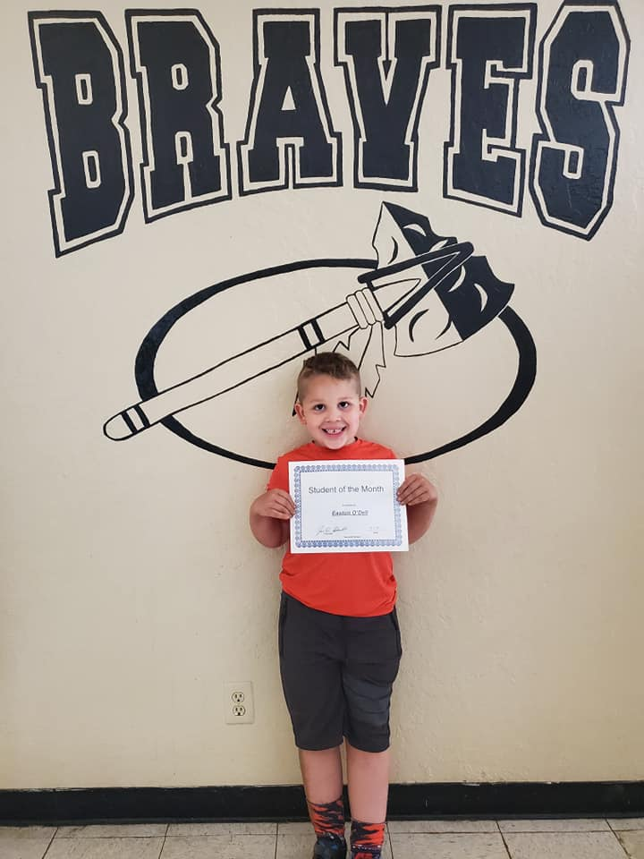 May Student of the Month: Easton O'Dell