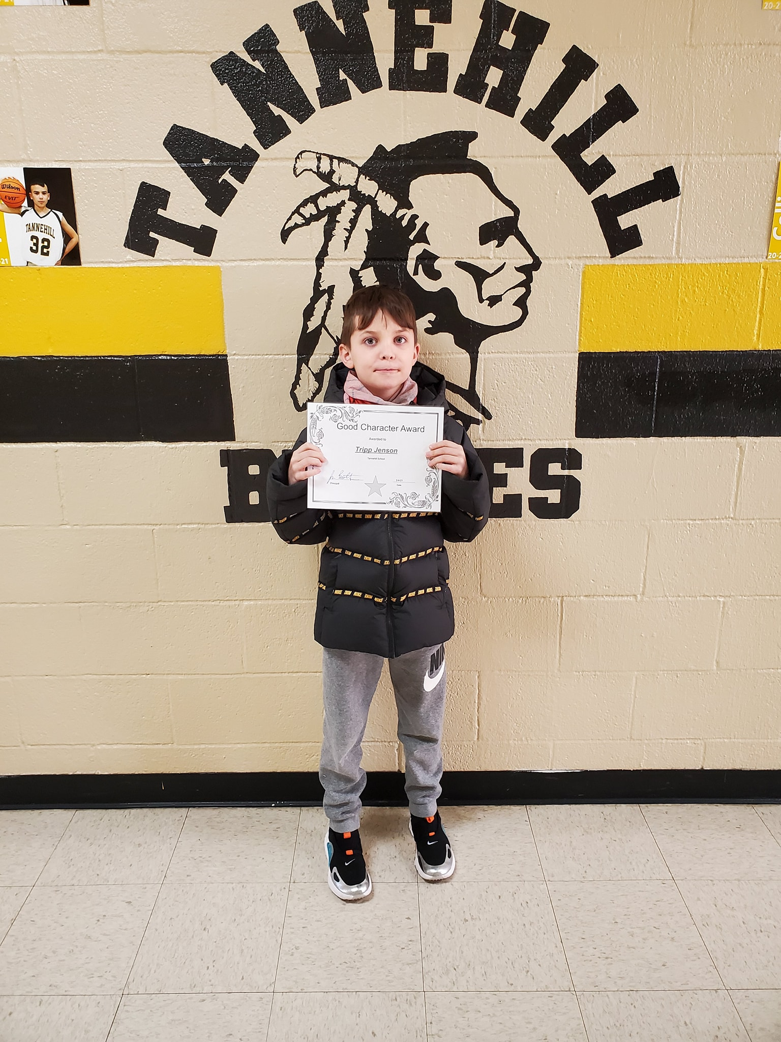 January Good Character of the Month: Tripp Jenson