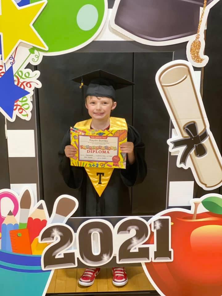 Kindergarten Graduate Raydin Burnley