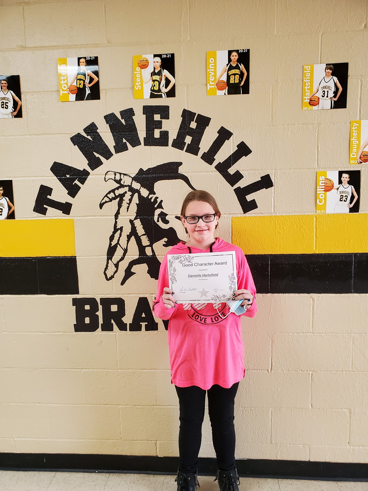 January Good Character of the Month: Danielle Hartsfield