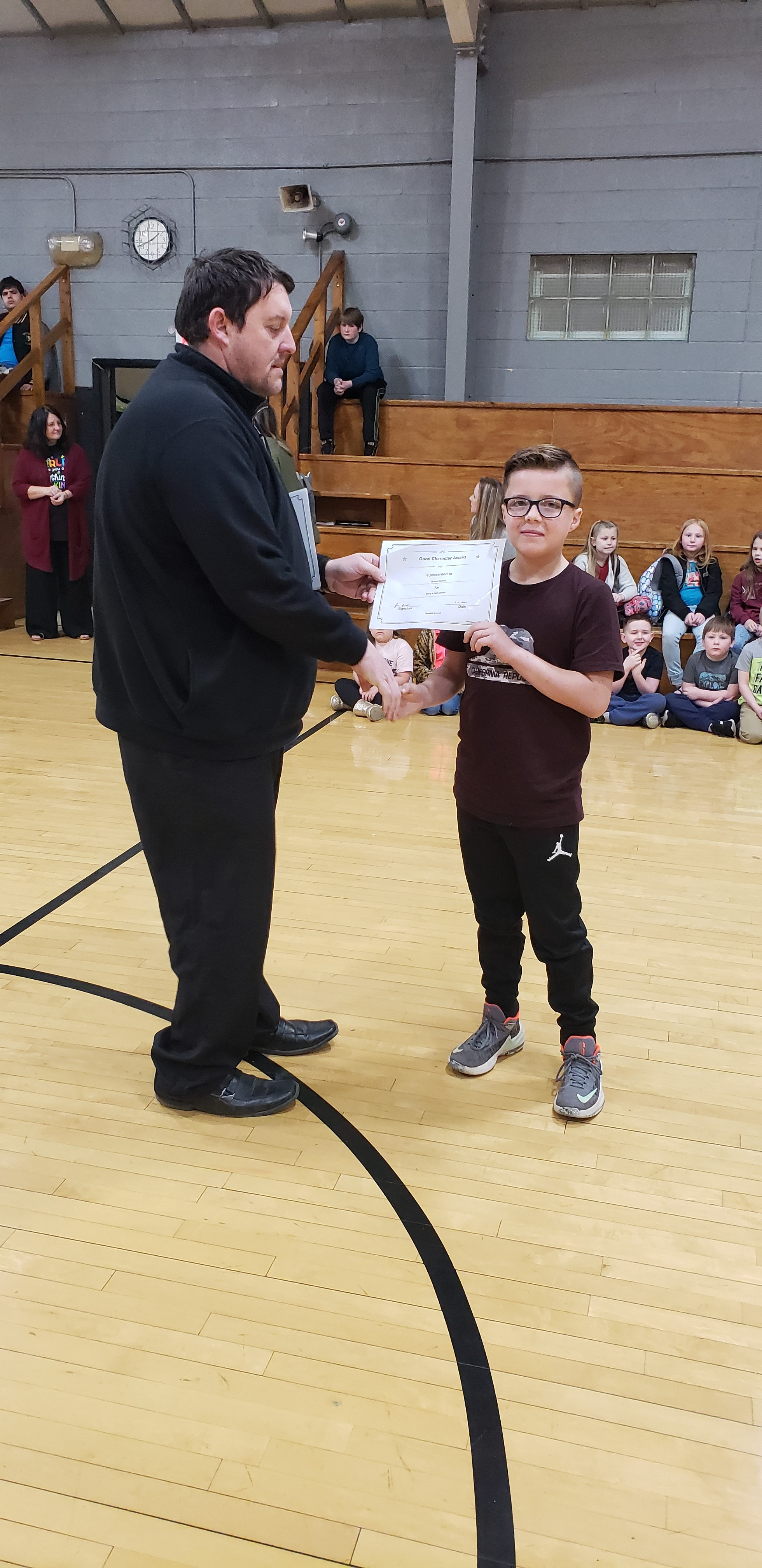 February Good Character of the Month: 3rd Grade Braxton Nelson