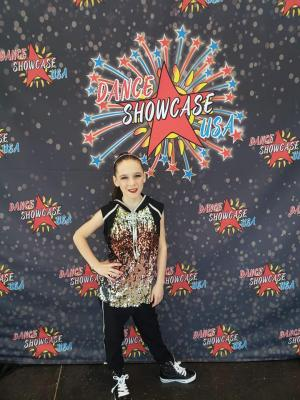 Addison Gibson recently competed in the Dance Showcase regionals in Oklahoma City. She performed a solo