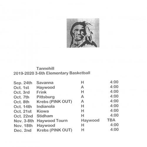Elementary Basketball Schedule