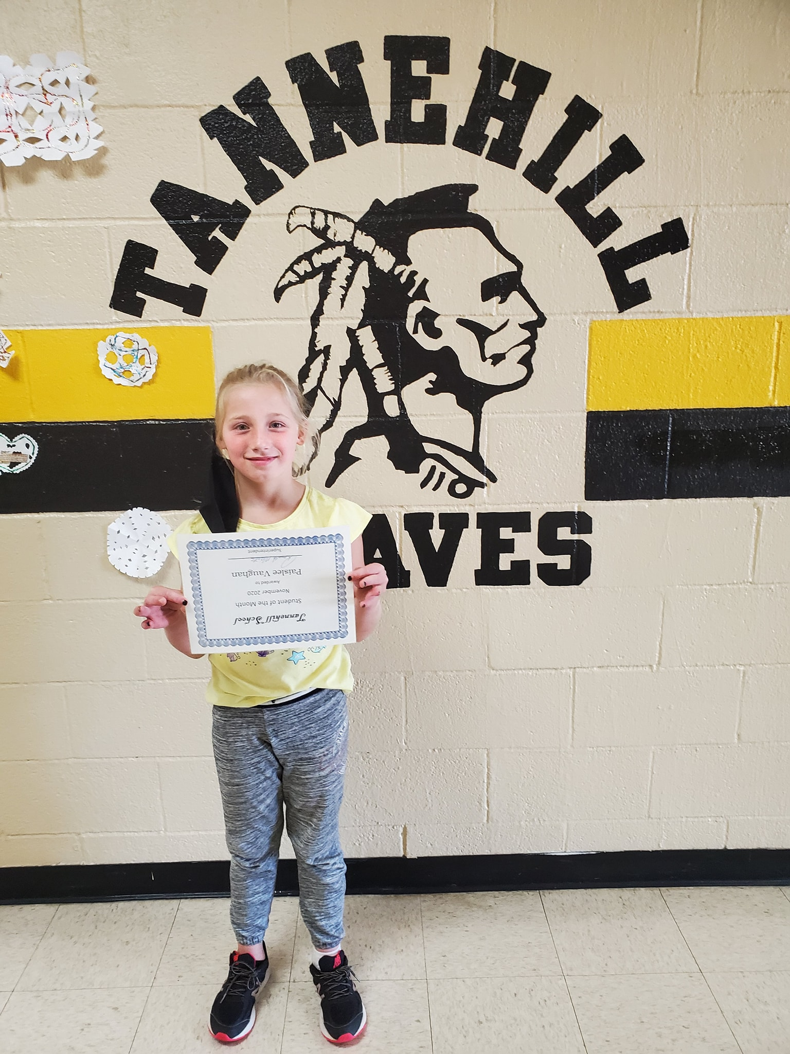 November Student of the Month: Paislee Vaughan