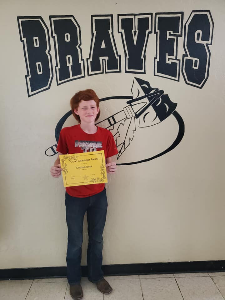 May Good Character of the Month: Chayton Young