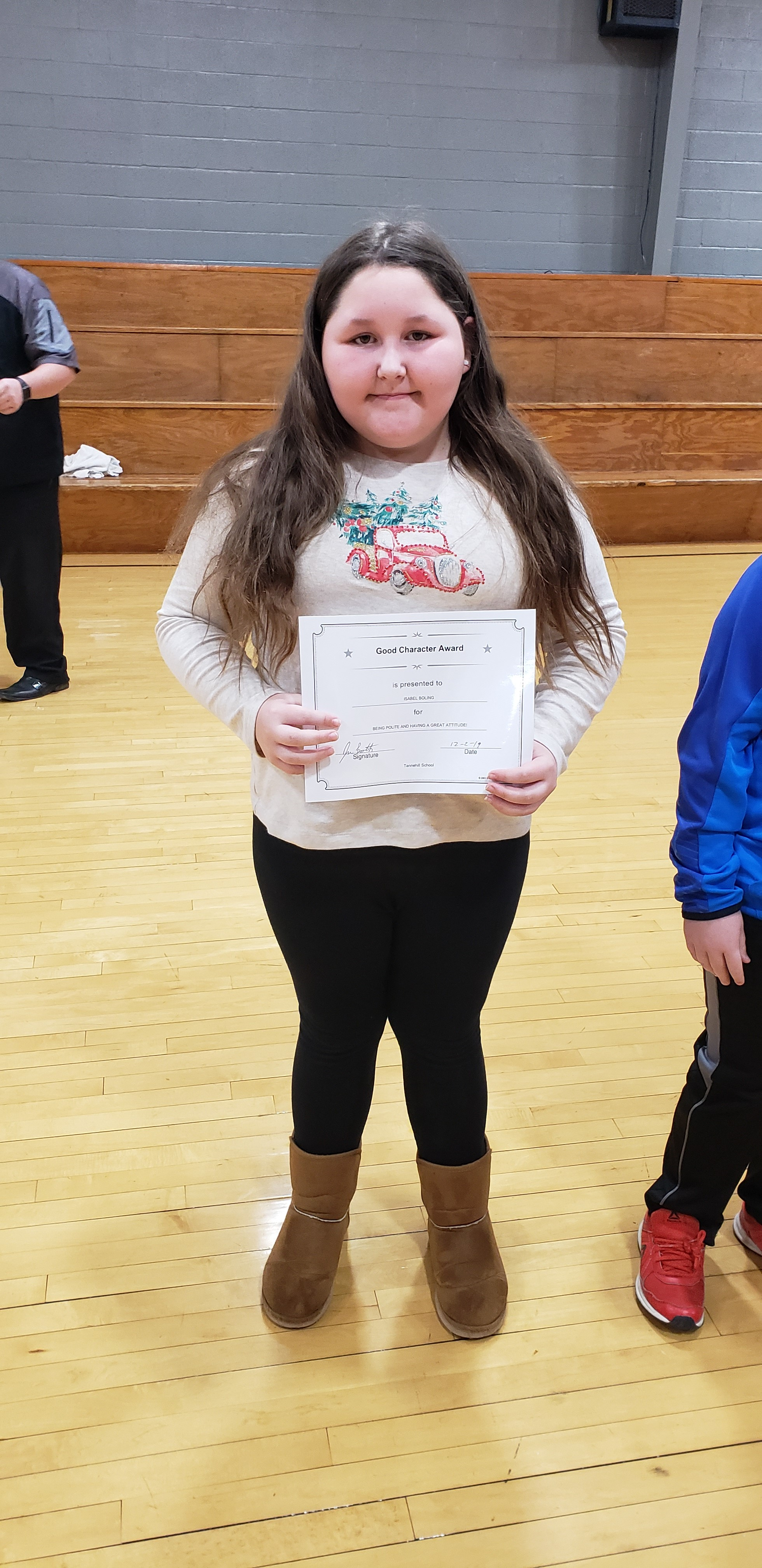 November Good Character of the Month: Isobel Boling
