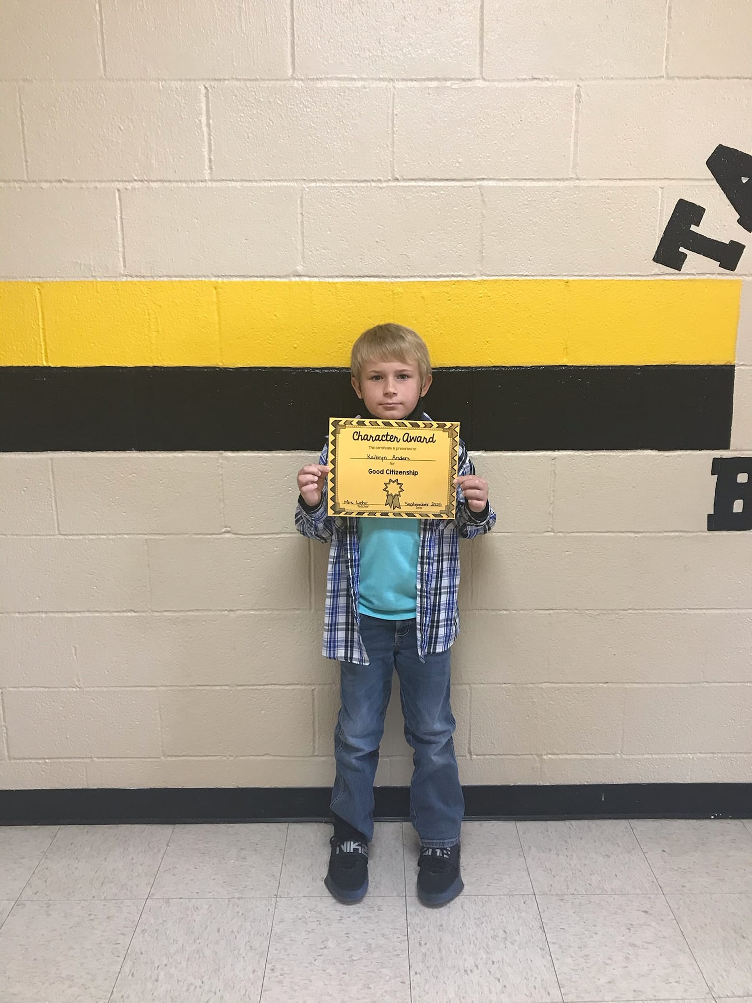 September Good Character of the Month:  Kaibryn Anders