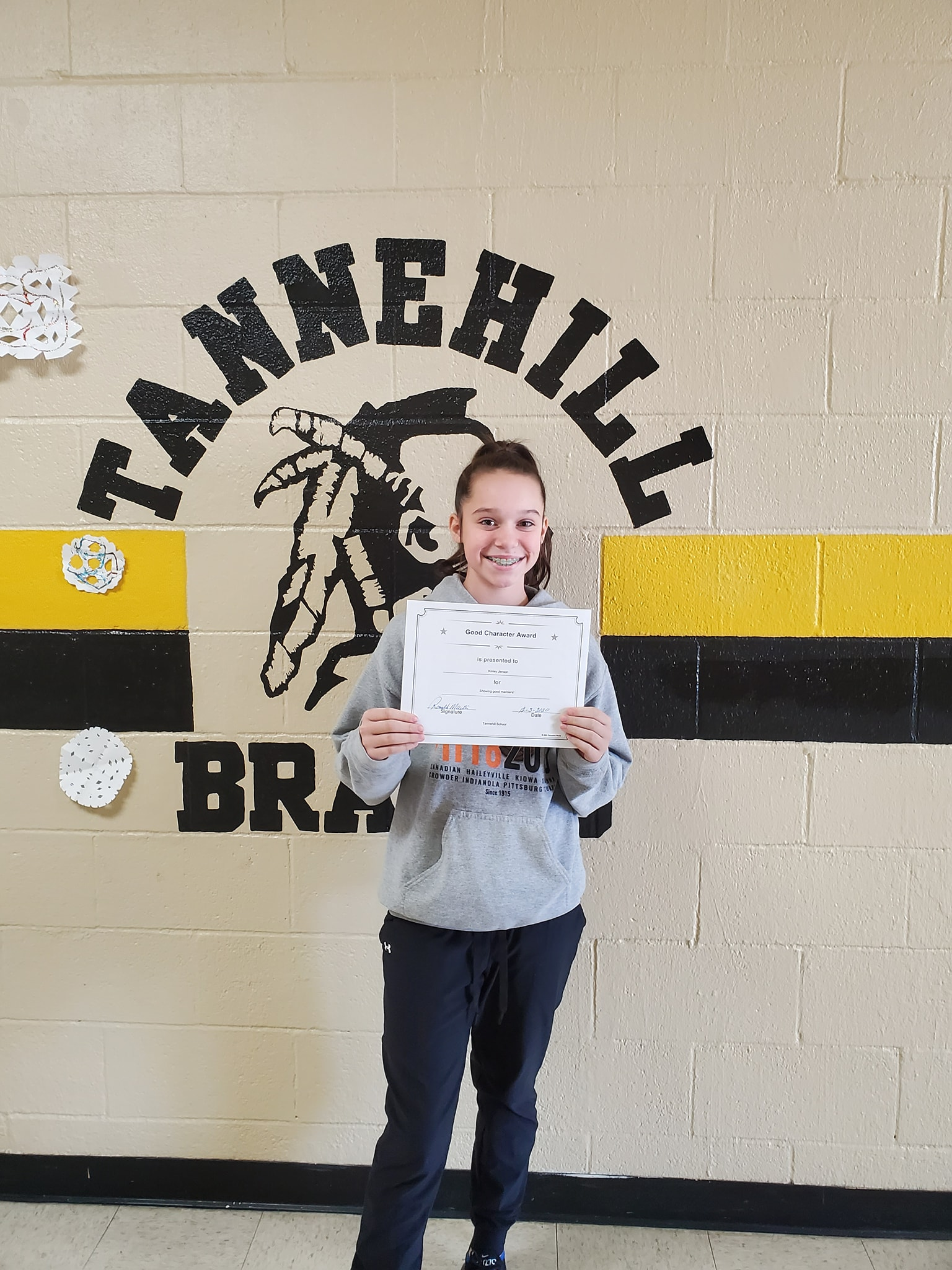 November Good Character of the Month: Kinley Jenson