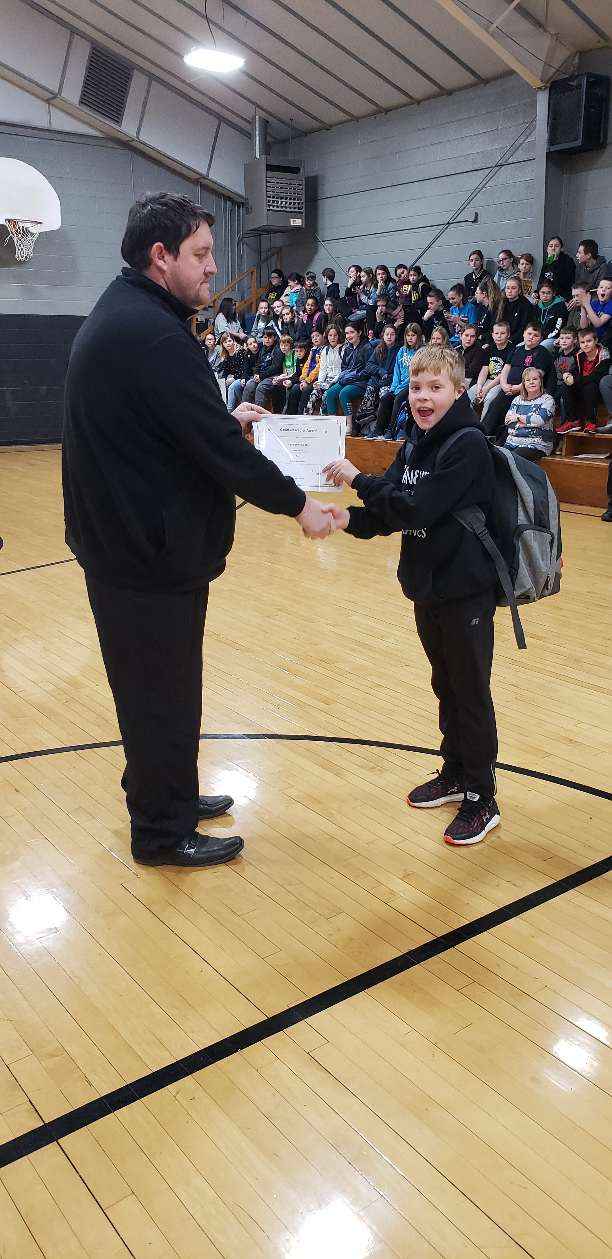 February Good Character of the Month: 4th Grade Hunter Arnold