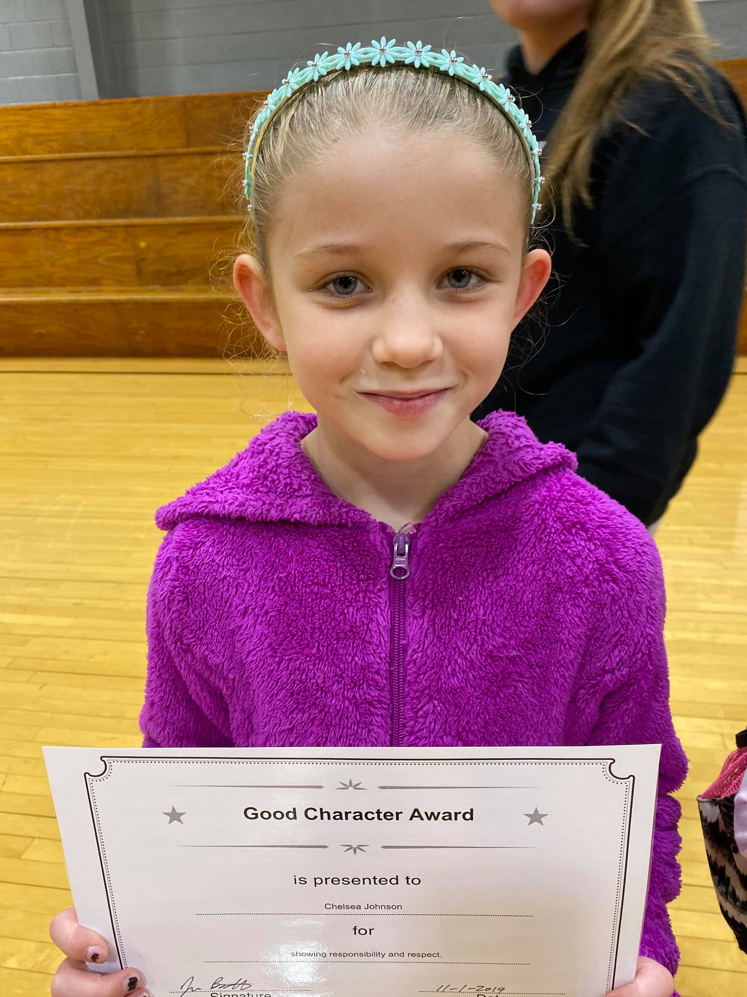 October Good Character of the Month:  Chelsea Johnson