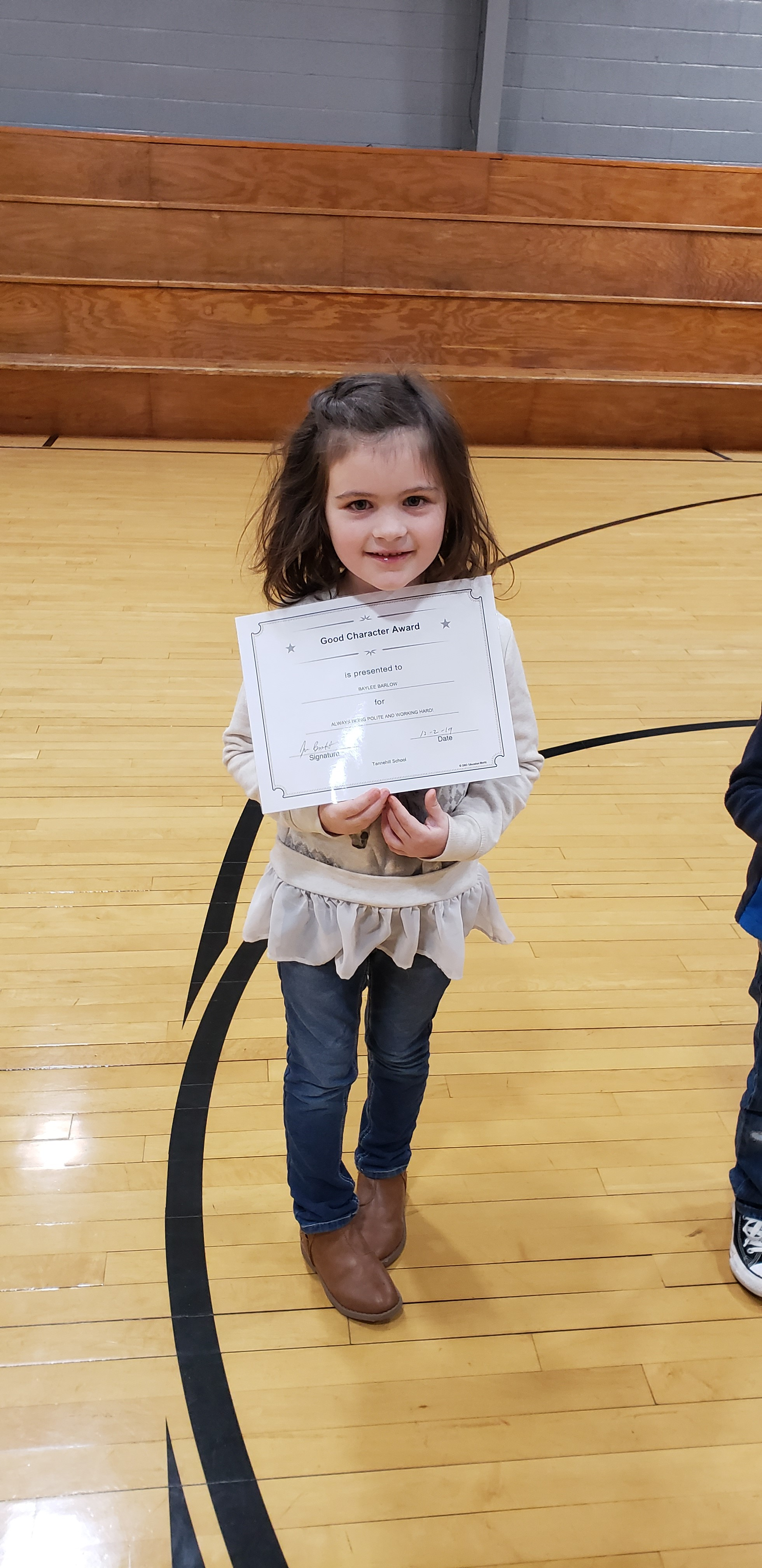 November Good Character of the Month: Bailee Barlow