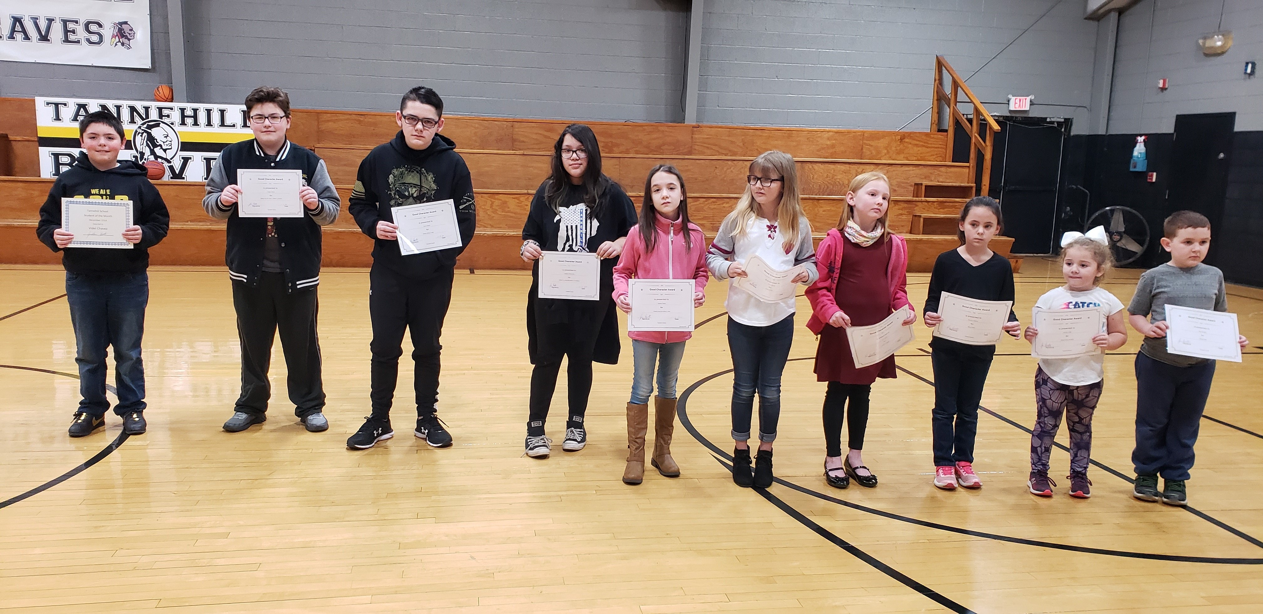 December Good Characters & Student of the Month