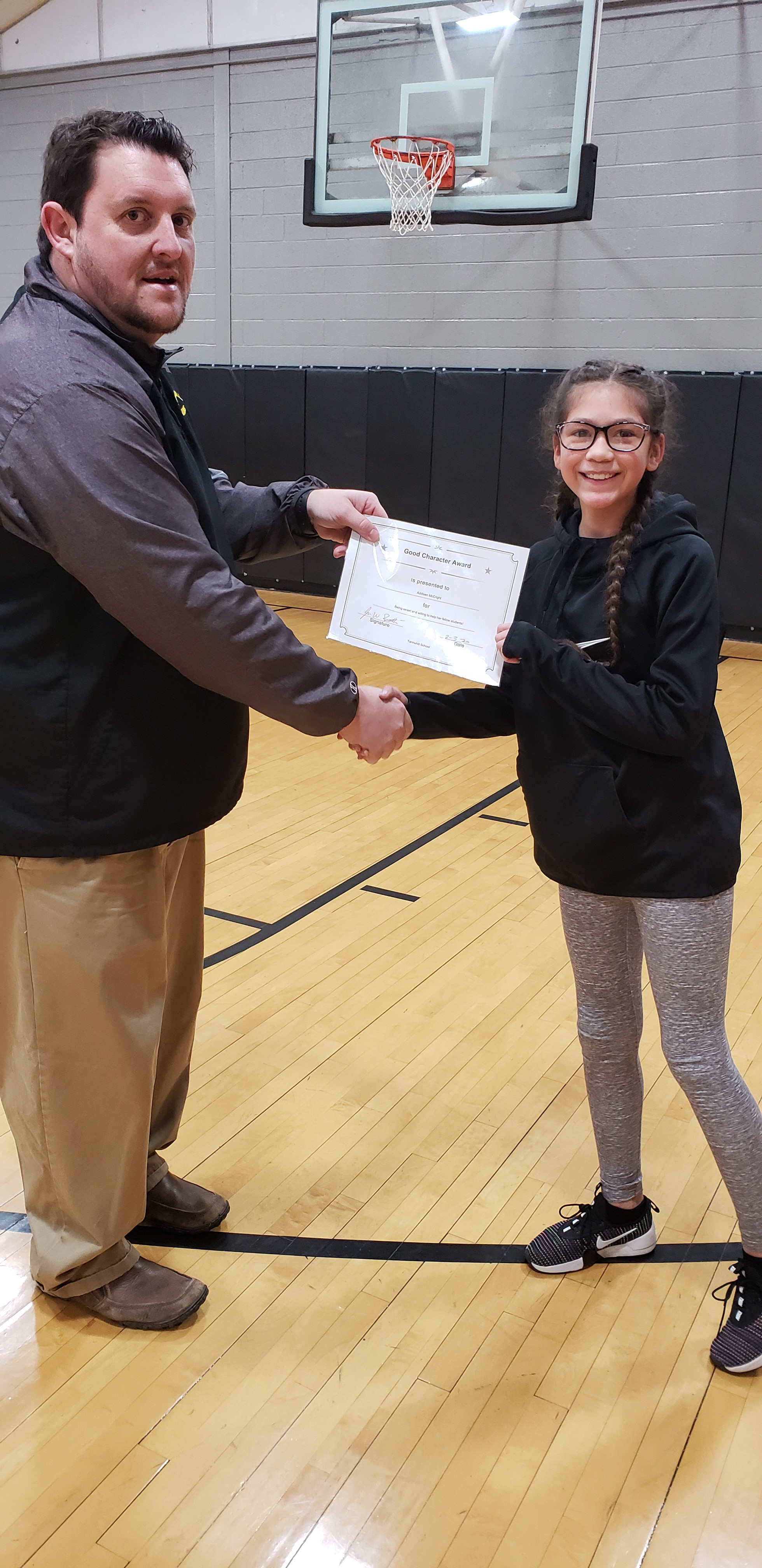 January Good Character of the Month: Addisen McCright