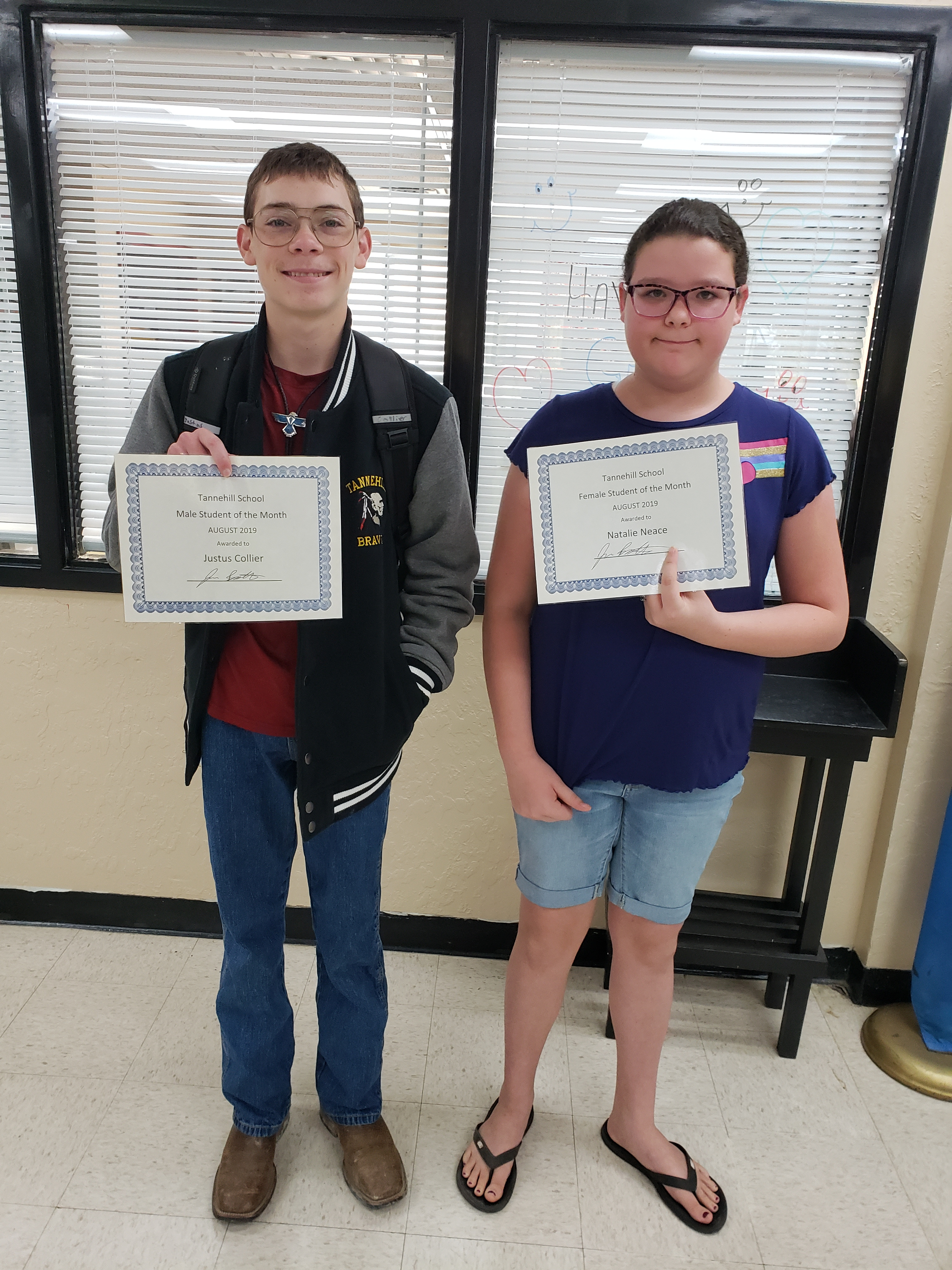 August Students of the Month: Justus Collier & Natalie Neace!