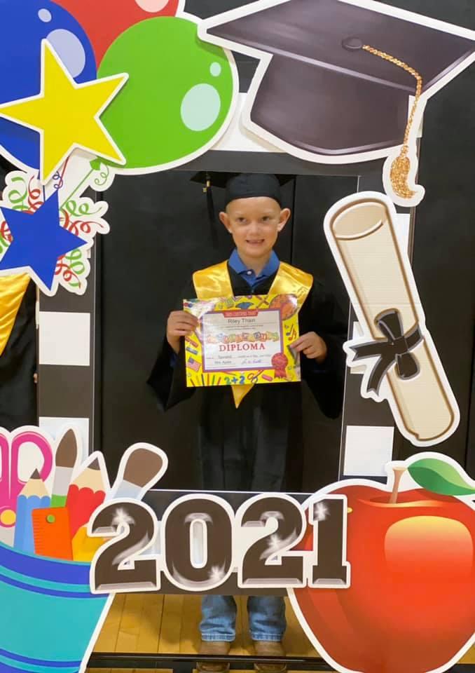 Kindergarten Graduate Riley Thain