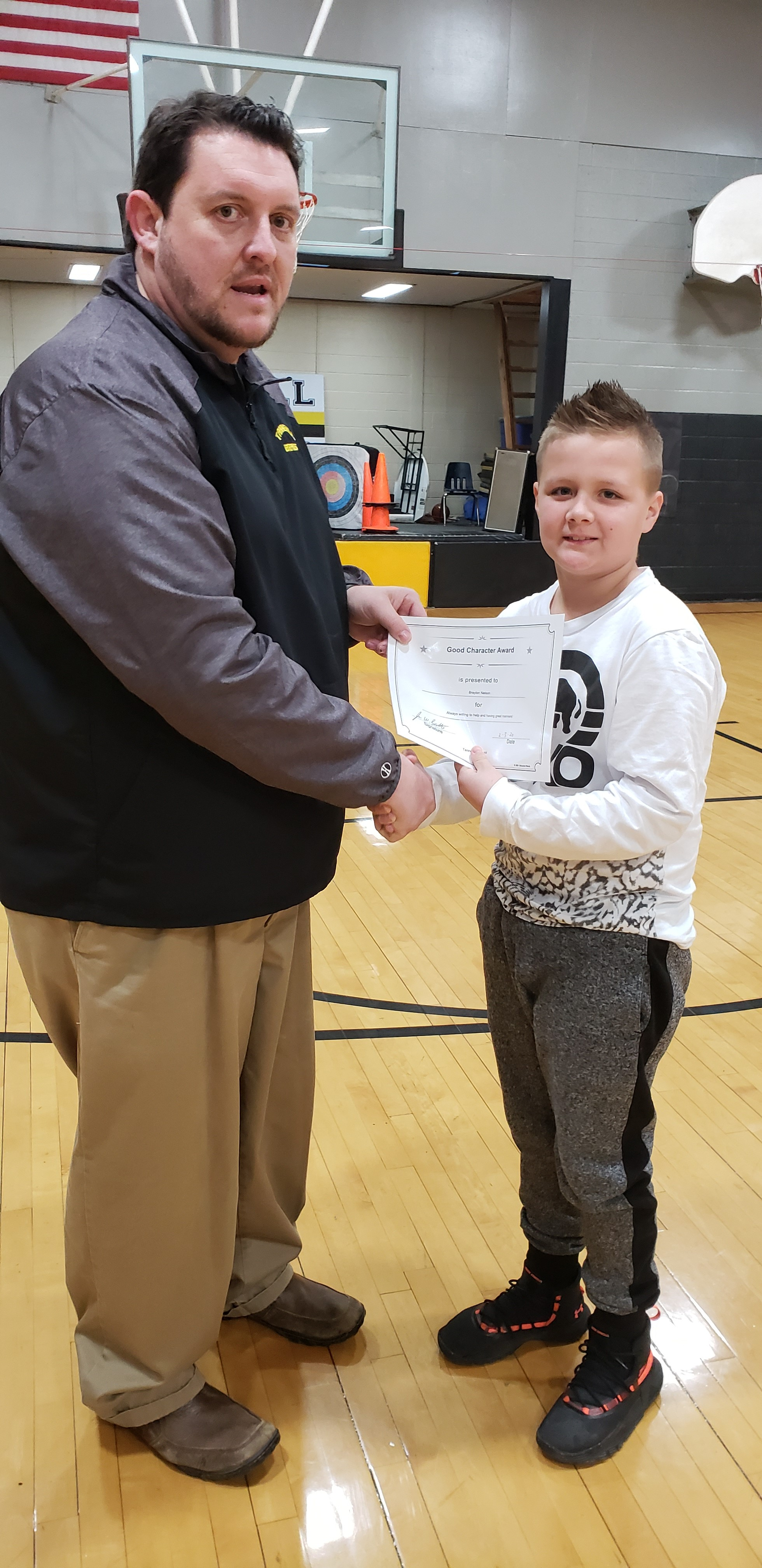 January Good Character of the Month: Braylon Nelson