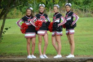 Sophomores Kaitlyn Fettes, Emoree Ardrey, Jaiden Biddy & DiEtte StandingRock