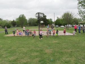We had fun at the Easter Egg Hunt!  Ready, set, go!!