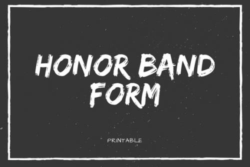 Honor Band Form