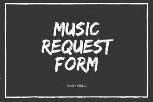 Music Request Form
