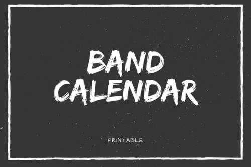 Band Calendar