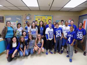 On Fridays we wear BLUE!!!