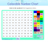 Image that corresponds to Colorable Number Chart