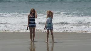 My daughters Payton (left) Drew (right) at Laguna Beach, California