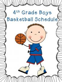 4th Grade Boys Basketball Schedule