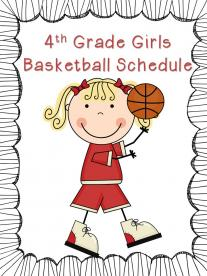 4th Grade Girls Basketball Schedule