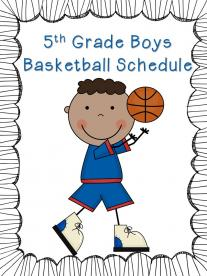 5th Grade Boys Basketball Schedule