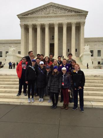 Andover High Students Visit D.C. for Inauguration