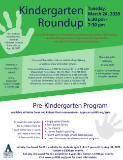 Kindergarten Roundups scheduled for March 24