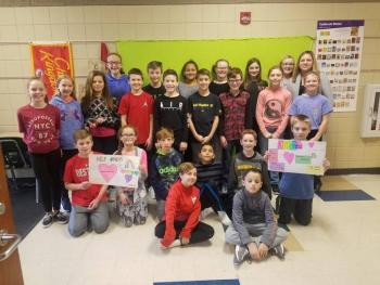 Fifth Graders at develop Kindness Program