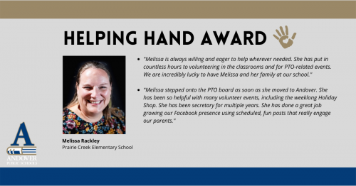 Helping Hand Melissa Rackley