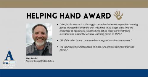 Helping Hand Matt Jacobs