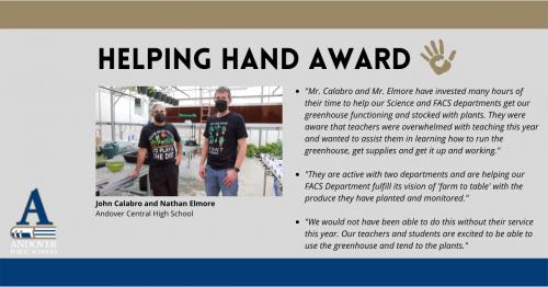 Helping Hand John Calabro and Nathan Elmore