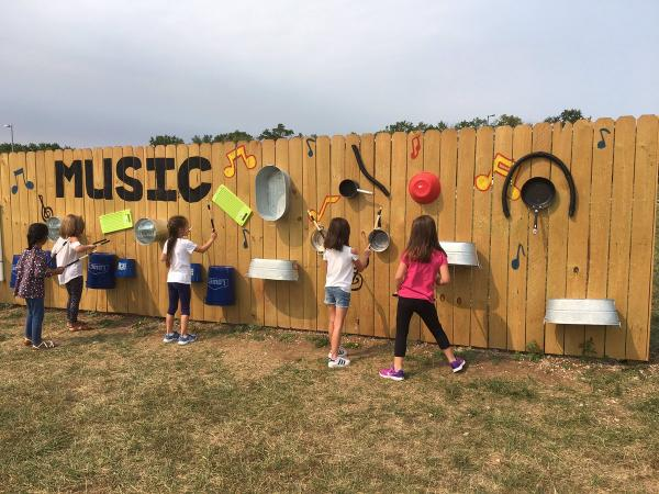 Music Wall at Prairie Creek Elementary