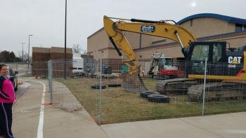Construction Work on Wheatland Elementary's Cafeteria.