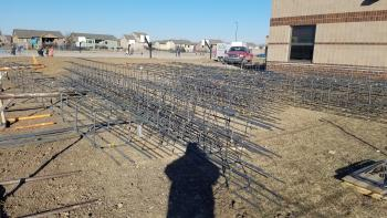 Footing steel for the foundation of Wheatland Elementary's new addition.