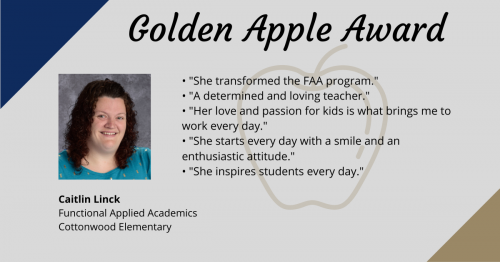 Mrs. Linck-Golden Apple Award