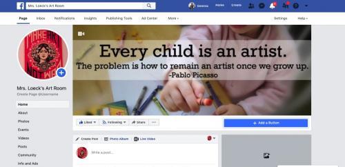 Mrs. Loeck's Art Room facebook page