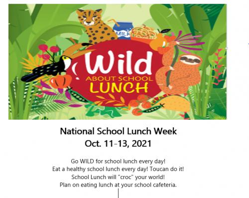 National School Lunch Week ~ Oct. 11-13
