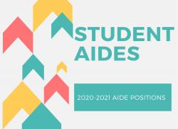 2020-2021 STUDENT AIDE SELECTIONS