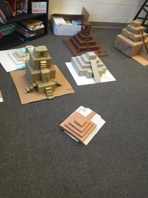 Some of the great student created ziggurats!