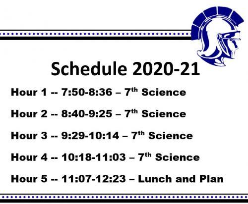 Schedule 2020-21