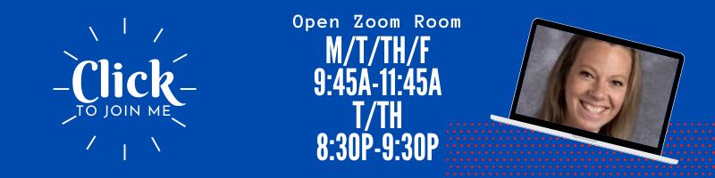 Open Zoom Room Hours