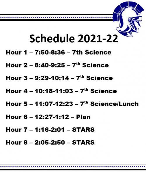 Schedule 2021-22