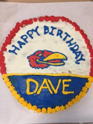 Jayhawk Cookie Cake