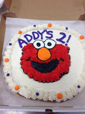 Student Creation-- Elmo Cookie Cake